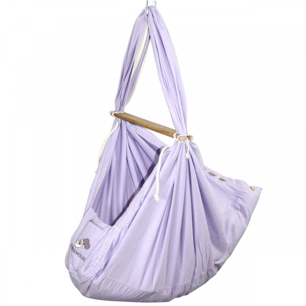 Baby Federwiege Pastell Lavender