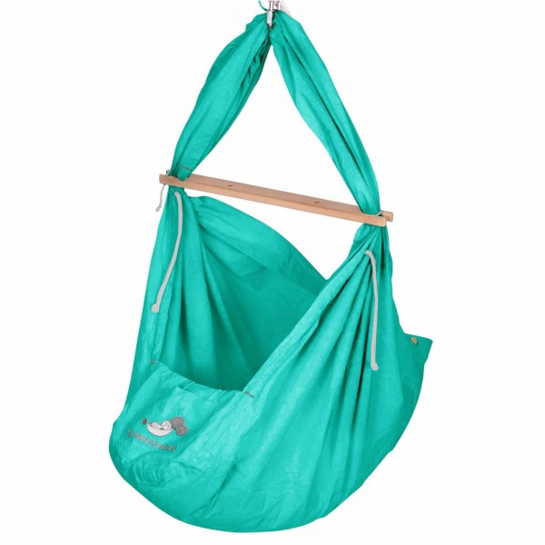 Baby Federwiege Pastell Green